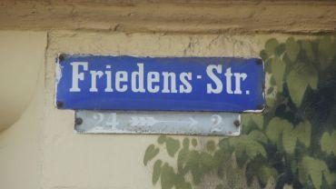 Die Friedensstraße wurde 1874 getauft