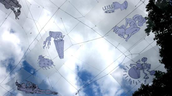 Der Zauber über den Schaubuden wurde vom Künstlerduo Cesar und Muriel entworfen.