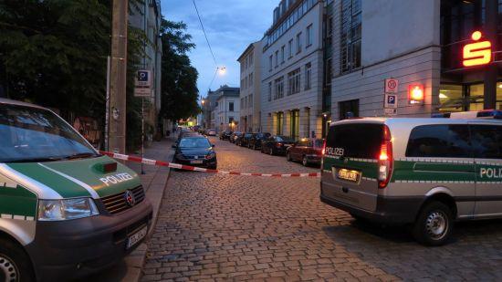 Auch die Katharinenstraße wurde gesperrt.