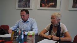 André Schollbach und Dr. Margot Gaitzsch bei der heutigen