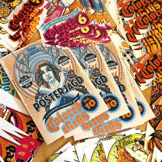Posterjagd anlässlich der Colored Gigs