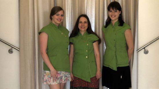 die Drei vom Kosmetikstudio: Marijke, Yvonne und Karen