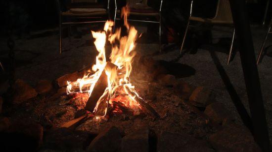 Lagerfeuer-Romantik im Wichtelgarten