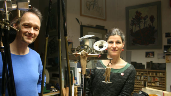 Tom Böhm und Anna Böhm organisieren das Treppenkino dieses Jahr zum fünften Mal.