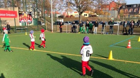 Nachwuchs-Kicker beim Sportfreunde 01 Dresden Nord