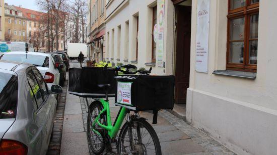 Lieferung per E-Bike
