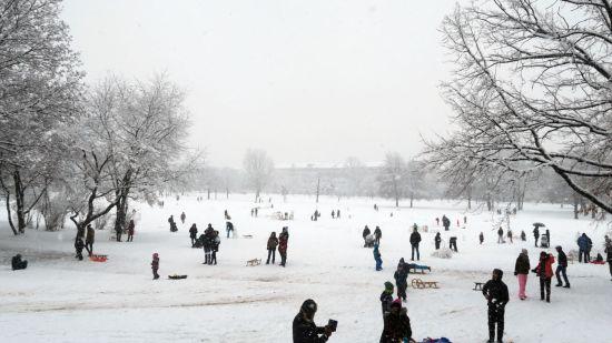 Winterspaß auf dem Alaunplatz
