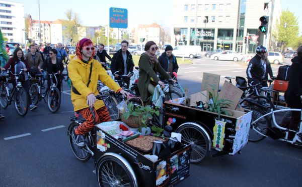Im April hatten Radfahrer*innen für eine Verkehrswende in Dresden demonstriert