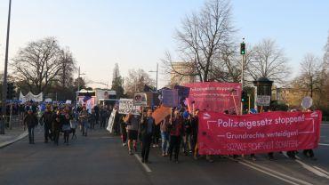 Demo gegen das geplante Polizeigesetz