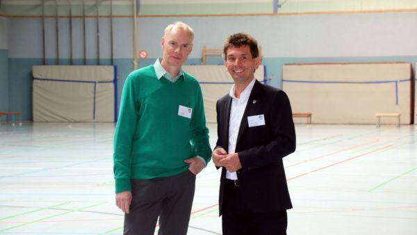 Die Vereinsvorsitzenden Frank Elsner und Steffen Tampe.