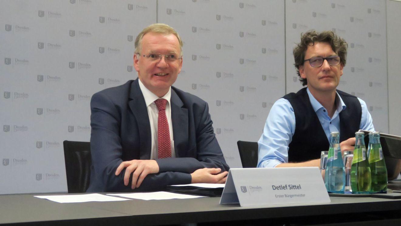 Ordnungsbürgermeister Detlef Sittel und Stadt-Pressesprecher Kai Schulz