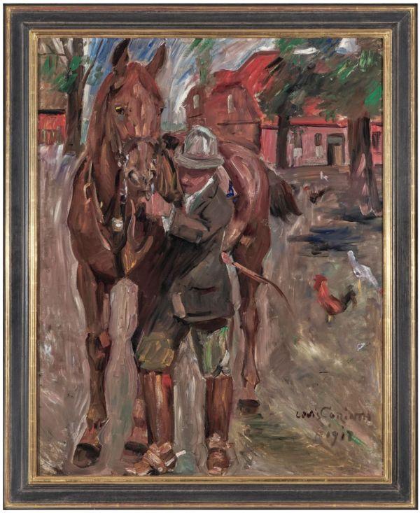 Lovis Corinth  - Reiter, Öl auf Leinwand, 119 mal 95 Zentimeter