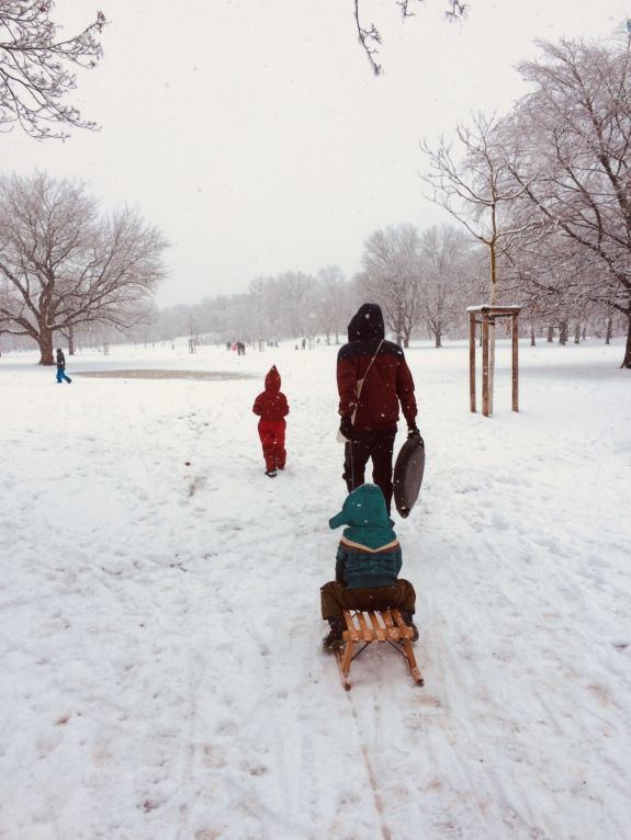 Alaunplatz im Winter - Foto: Tina