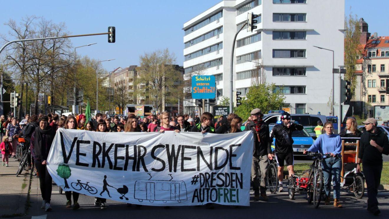 Die Verkehrswende-Demo im April 2019.