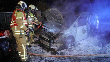 Insgesamt vier Autos waren von dem Feuer betroffen. Foto: Roland Halkasch