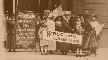 Amerikanische Suffragetten im Jahre 1915