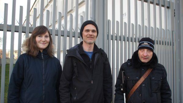 Setzen sich für Menschen in Abschiebehaft ein: Ruth Borchers, Jörg Eichler, Marco Rademann.