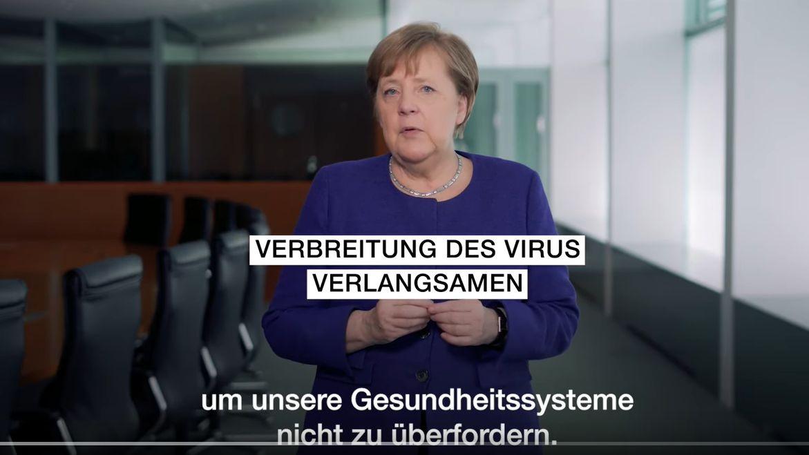 Kanzlerin Angela Merkel im Podcast zur Coroan-Krise