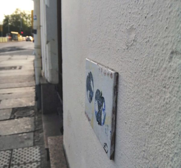"""Nur wenige Schritte neben dem """"Eingang"""" zur Neustadt, der Alaunstraße."""