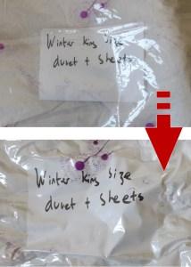 Vacuum Bag Label