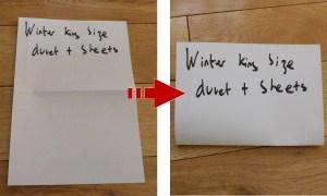 how to label vacuum storage bag