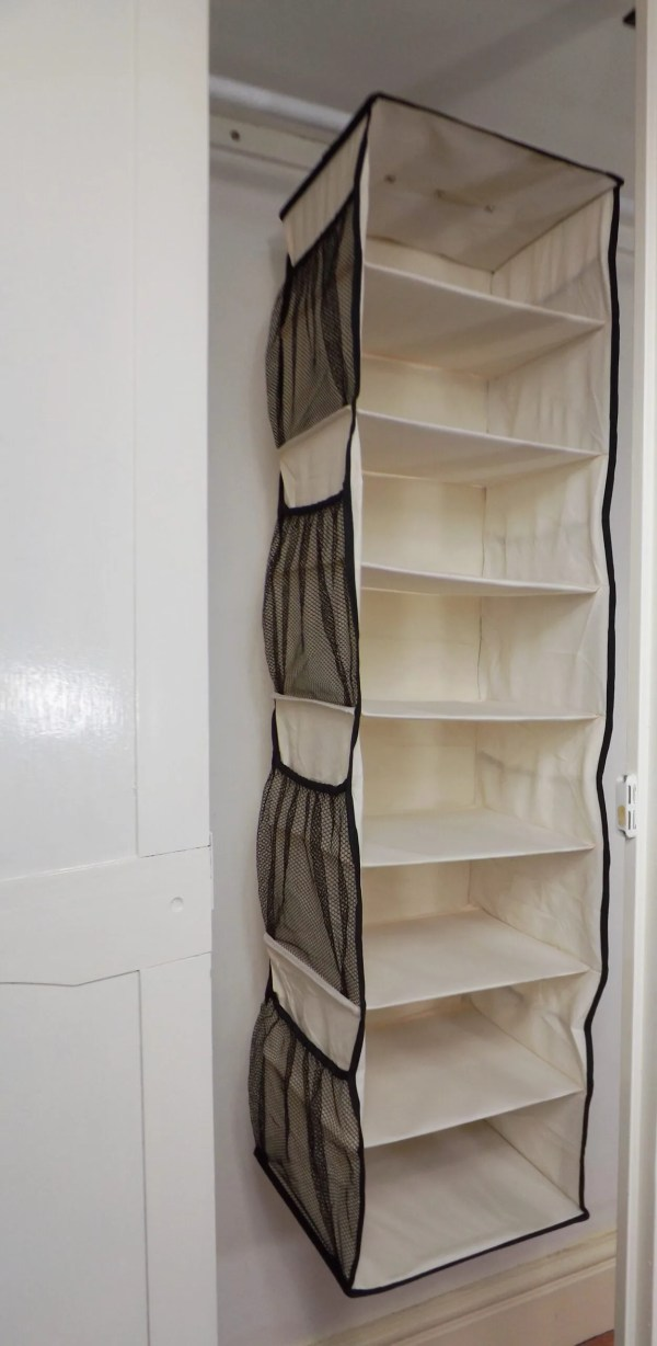 8 shelf organiser in wardrobe
