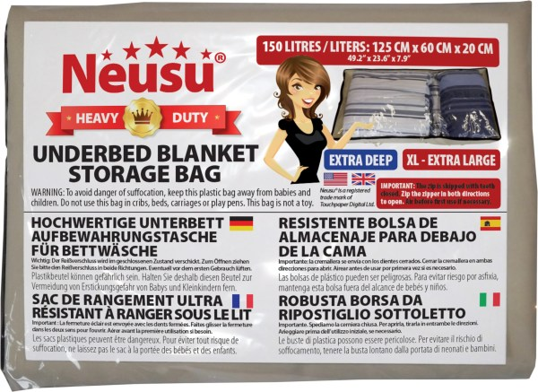 Clear Underbed Bag XL Packaging