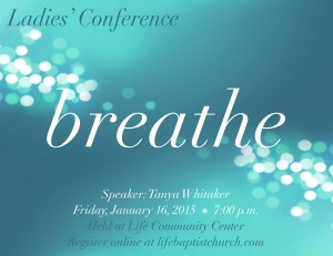 breathe conference flyer