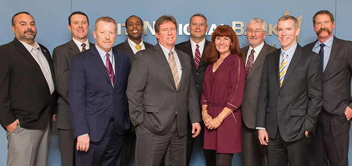 Len Christopher, Republic Services; Pat Egan, NV Energy; Tom Husted, Valley Electric Association; Bruce Ford, City National Bank; Tom Minwegan, Clark County Water Reclamation District; John Entsminger, Southern Nevada Water Authority & Las Vegas Valley Water District; Connie Brennan, Nevada Business Magazine; Randall DeVaul, City of North Las Vegas; John Hester, Southwest Gas; Allen Pavelka, City of Las Vegas