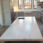 Residential kitchen in Pacific Grove, California with carrara marble protected with TuffSkin satin