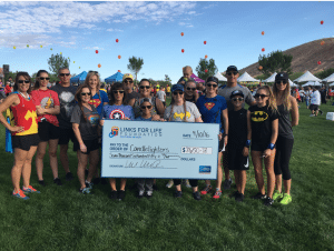 Las Vegas and its charitable foundation, Links for Life, teamed up to raise more than $7,500 for Candlelighters Childhood Cancer Foundation of Nevada