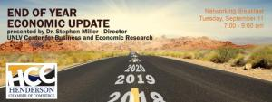 """The Henderson Chamber of Commerce will host its monthly networking breakfast, """"End of Year Economic Update,"""" presented by Dr. Stephen Miller."""