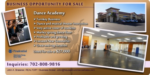 Dance Studio For Sale in Las Vegas