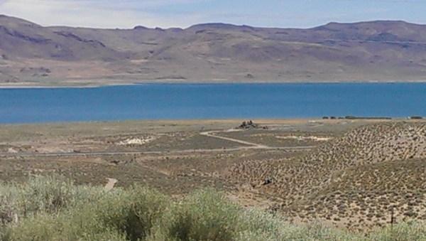 Pyramid Lake where Leadbelly ran away.