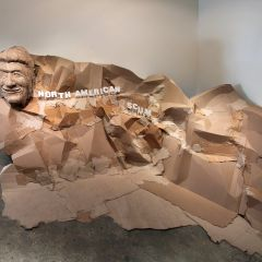 Mount Nicaragua: On the Shady Side of Mount Rushmore // Cardboard, wood, acrylic paint // 83 x 190 x 84 inches // 2011