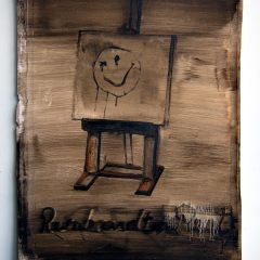 Rembrandt pays the Rent // Oil on Paper // 60 x35 cm // 2014