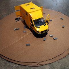 Guggenheim Globetrotters World Tour: Iran // Toy truck, wood and paint // 8 x 12 x 6 inches // 2011