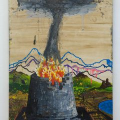 Trouble at BLAH BLAH INC. // Oil on Board // 182 x 121 cm // 2009