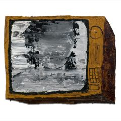 CH.34: She was a Victim – before - she was a Richter // Oil & acrylic on MDF // 32 x 41cm // 2002