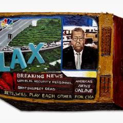 CH.47: LAX ATTACK // Oil on MDF // 40 x 54cm //2002