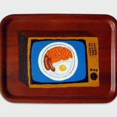 CH.53: GRUBS UP // Acrylic on Catering Tray // 35 x 56cm // 2003