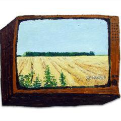 CH.54: Very Nearly: A Day Dream in Freddy's Field // Oil on MDF // 37 x 55cm // 2002