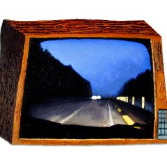 CH.56: Very Nearly: A Temporary Lull in the Autobahn Romance // Oil on MDF // 45 x 62 cm // 2003