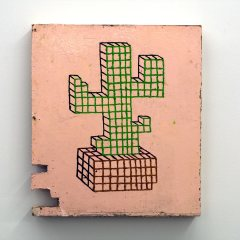 GM# 20: UCCELLO'S CACTI CHALICE // Oil on board // 53 x 47 cm // 2008