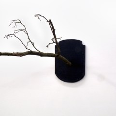 GM# 34: Wouldn't it be fabulous to have a home that could take it // Wood, Tree Branch, Epoxy, Acrylic Paint // 150 x 80 x 100 cm // 2009
