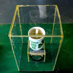 Ardagh Chalice MK II // Perspex. Glue Sticks, Genuine Irish Mug, Mirror // 25 x 25 x 15 cm // 2010
