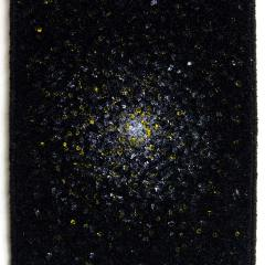 M // Acrylic on Carpet, Brass Eyelets // 40 x 30 cm // 2014
