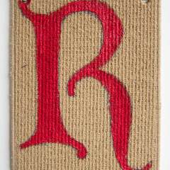 R // Acrylic on Carpet, Brass Eyelets // 40 x 30 cm // 2014