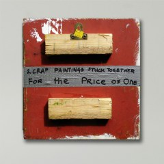 Buy One Get One FREE // Oil on Board, Gaffer Tape, Marker // 29 x 28 cm // 2002