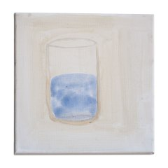 Bobby Sands Last Meal: A Glass of Un-fluoridated Water // Camille Souter, b. 1929 // Acrylic on Canvas // 40x30cm // 2015